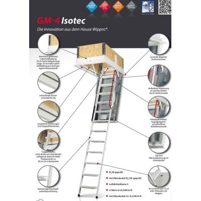 Isotec - чердачная лестница ,  для утепленных потолков.