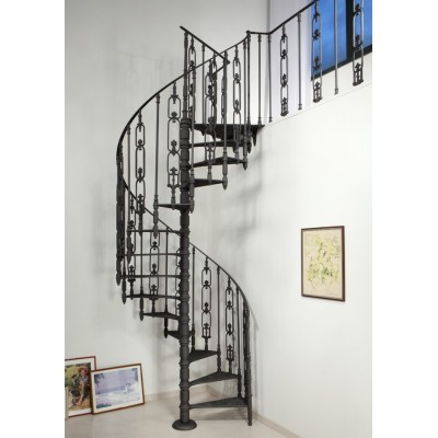 чугунная винтовая лестница без подступёнков