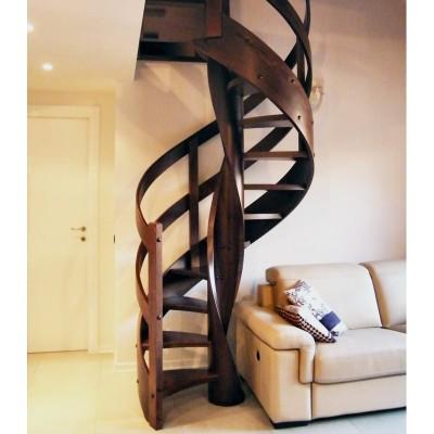 деревянная винтовая лестница emme-90  Италия