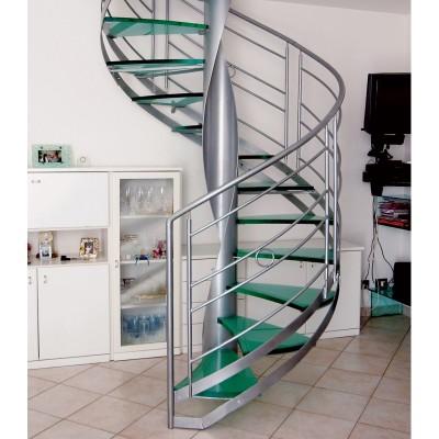 винтовая лестница со стеклянными ступенями emme-94