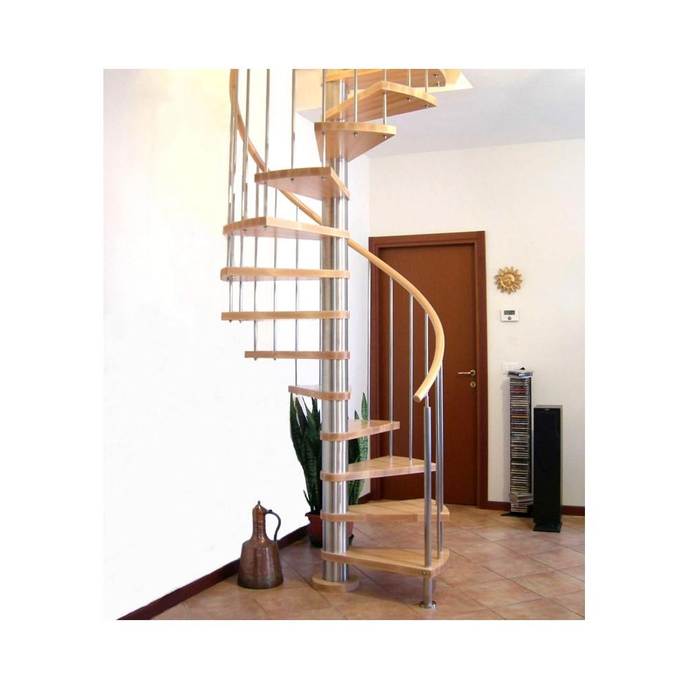 лестница с поручнем из дерева emme-82