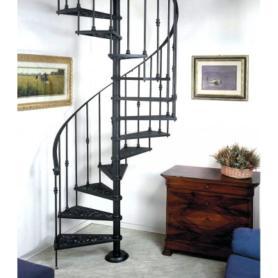 ажурная литая лестница emme-6