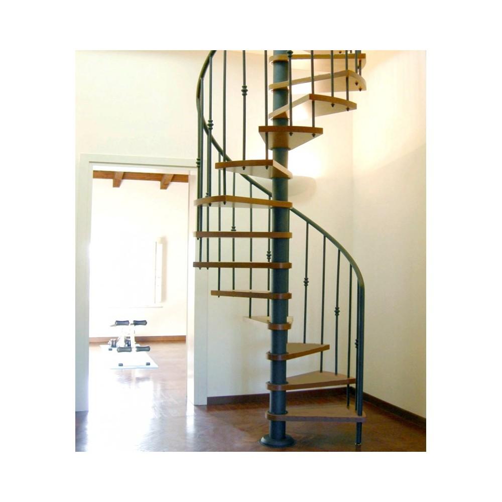 винтовая лестница с металлическим поручнем emme-87
