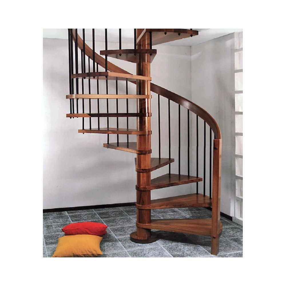 винтовая лестница с деревянным поручнем emme-88