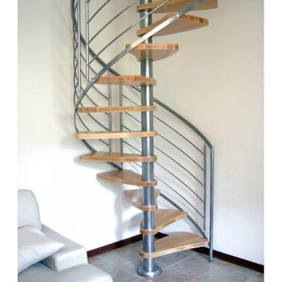 винтовая лестница с ограждением из металла emme-92