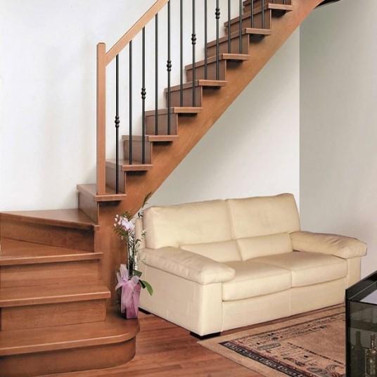 Купить классические лестницы на косоурах (Италия, Россия). Изготовление под заказ