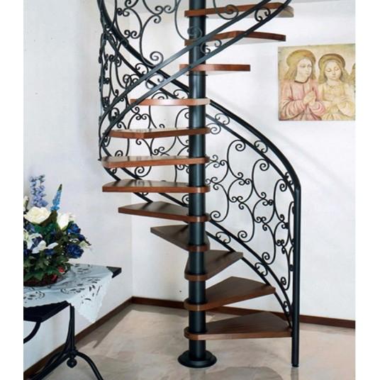 OnlyStairs представляет винтовые лестницы с кованым ограждением